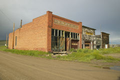 Monida、一个被放弃的镇蒙大拿的边界的和爱达荷在Monida附近通过,跨境15 免版税图库摄影
