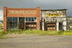 Monida, uma cidade abandonada na beira de Montana e Idaho perto de Monida passam, 16 de um estado a outro fotos de stock