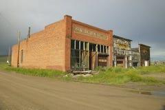 Monida, uma cidade abandonada na beira de Montana e Idaho perto de Monida passam, 15 de um estado a outro Fotografia de Stock Royalty Free