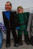 Monigotes or stuffed dummies new year in Ecuador Stock Photos