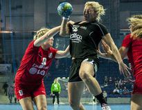 Monika Glowinska (Pogon Baltica Szczecin) in action during Handball match stock image
