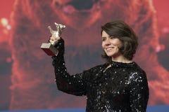 Monika Szumowska, ours argenté professionnel du grand jury chez Berlinale 2018 image libre de droits