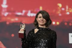 Monika Szumowska, urso de prata premiado do grande júri em Berlinale 2018 imagem de stock