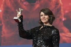 Monika Szumowska, urso de prata premiado do grande júri em Berlinale 2018 foto de stock royalty free