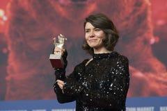 Monika Szumowska, urso de prata premiado do grande júri em Berlinale 2018 fotos de stock royalty free