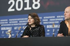 Monika Szumowska, urso de prata premiado do grande júri em Berlinale 2018 fotos de stock