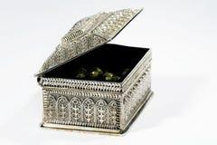 Monili d'argento Fotografie Stock Libere da Diritti