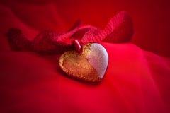 Monili del cuore handmade da vetro Immagine Stock