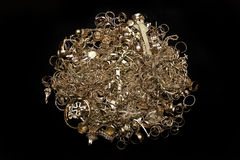 Monili dell'oro Fotografie Stock