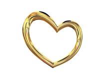 Monili di costume dell'oro del cuore Immagine Stock Libera da Diritti