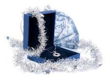 Monili di lusso in contenitore di regalo Fotografia Stock