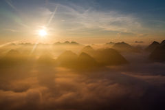 Moning in Bac Son Valley Stock Photo