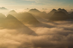 Moning in Bac Son Valley Stock Photography