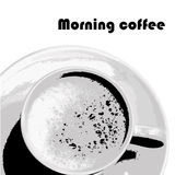 Moning coffee - vector image. Retro style Royalty Free Stock Photo