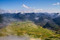 Moning en valle del arroz de Bac Son Imagen de archivo libre de regalías