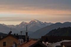 Moning scene of the Ortler peak on background. Italian Alps, Italy, Europe stock photos