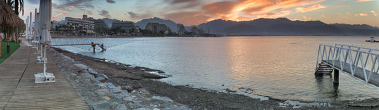 Moning view on the Red sea, Eilat Stock Photos