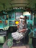 Monino, Rusland - 08 08 2018: De vliegtuigen van het cockpitgevecht van bombardirovshik royalty-vrije stock afbeeldingen