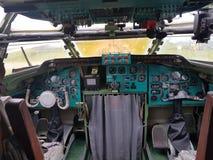 Monino, Rusland - 08 08 2018: De vliegtuigen van het cockpitgevecht van bombardirovshik stock afbeelding