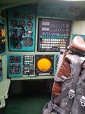 Monino, Rusland - 08 08 2018: De vliegtuigen van het cockpitgevecht van bombardirovshik royalty-vrije stock fotografie