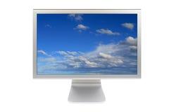 Moniteur à panneau plat d'ordinateur d'affichage à cristaux liquides Images libres de droits