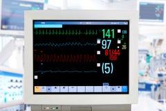 Moniteur d'électrocardiogramme Photographie stock libre de droits
