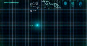 Moniteur d'électrocardiogramme Le moniteur bleu d'ECG montre le battement de coeur sain Boucle sans couture banque de vidéos