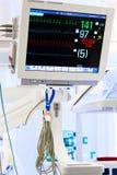 Moniteur d'ECG dans ICU Images stock