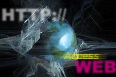moniteur d'Internet de HTTP de Web de WWW photo libre de droits