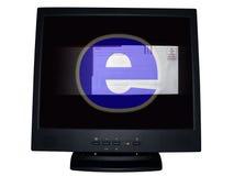 Moniteur d'ordinateur - email Photographie stock libre de droits