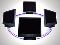 Moniteur d'ordinateur - réseau informatique Photographie stock