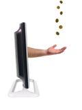 Moniteur de l'affichage à cristaux liquides TV Photos libres de droits