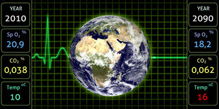 Moniteur de la terre illustration stock