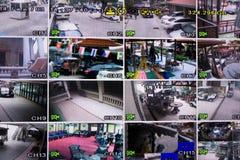 Moniteur de télévision en circuit fermé Photos stock