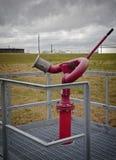 Moniteur du feu de lutte contre l'incendie de raffinerie Images stock