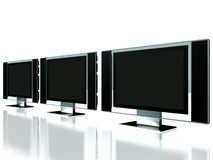 MONITEUR DU PLASMA TV DE BUREAU Photographie stock