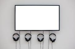 Moniteur et écouteurs image stock