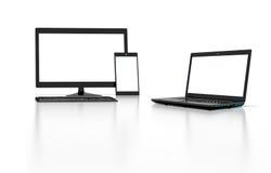 Moniteur, ordinateur, ordinateur portable, comprimé Photos libres de droits