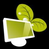 moniteur vert illustration stock