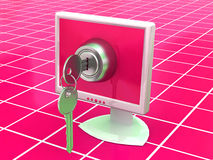 Moniteurs avec des clés Photo stock
