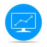 Moniteurs d'ordinateur avec différents graphiques Images stock