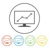 Moniteurs d'ordinateur avec différents graphiques Images libres de droits