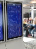Moniteurs de départ de vol Image libre de droits