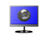 Monitor. Stylish monitor with the image of the earth in it Royalty Free Stock Images