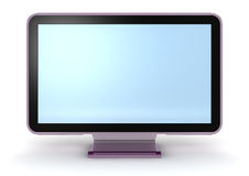Monitor. 3d rendering  Monitor isolated on white Royalty Free Stock Photography