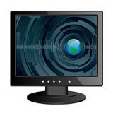 Monitor. Isolated image of a LCD monitor Stock Image
