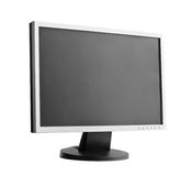 Monitor. Professional widescreen computer monitor. Isolated over white background stock photo