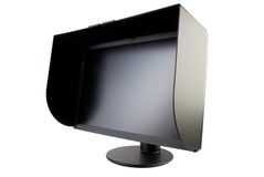 Monitor 2. Black matte monitor with a protective visor Stock Photography