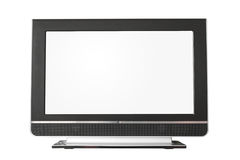 Monitor. A widescreen monitor on a white background Stock Photo