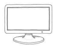 Monitor stock illustration